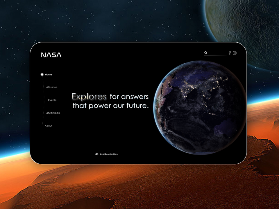 NASA's Homepage Redesign