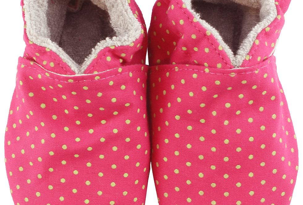 Sapatinho de Bebe Poá Pink, Oogie by Yandoo