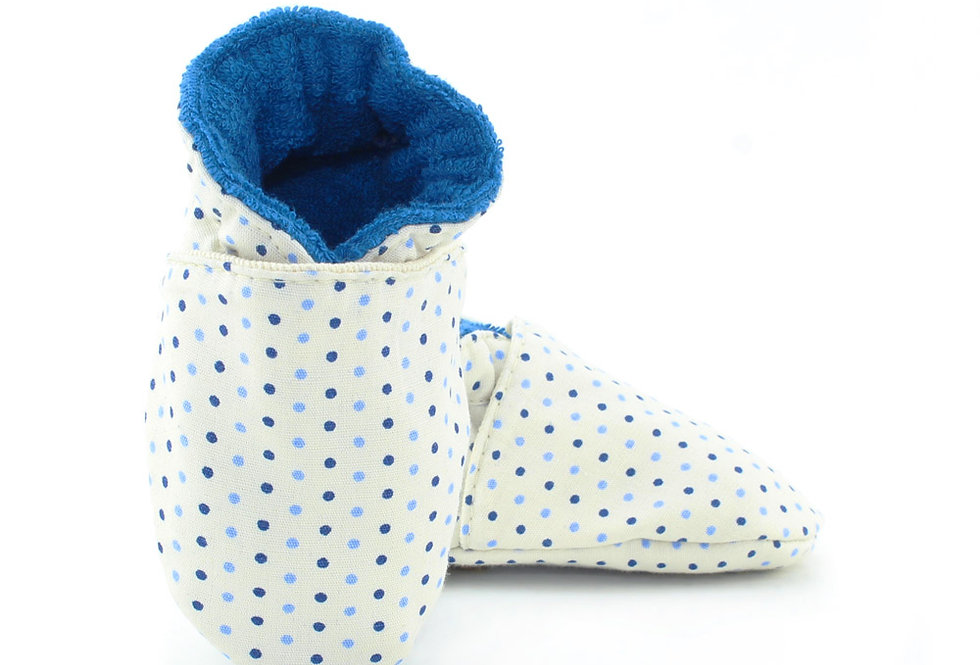 Sapatinho de Bebe Poá Blue, Oogie by Yandoo