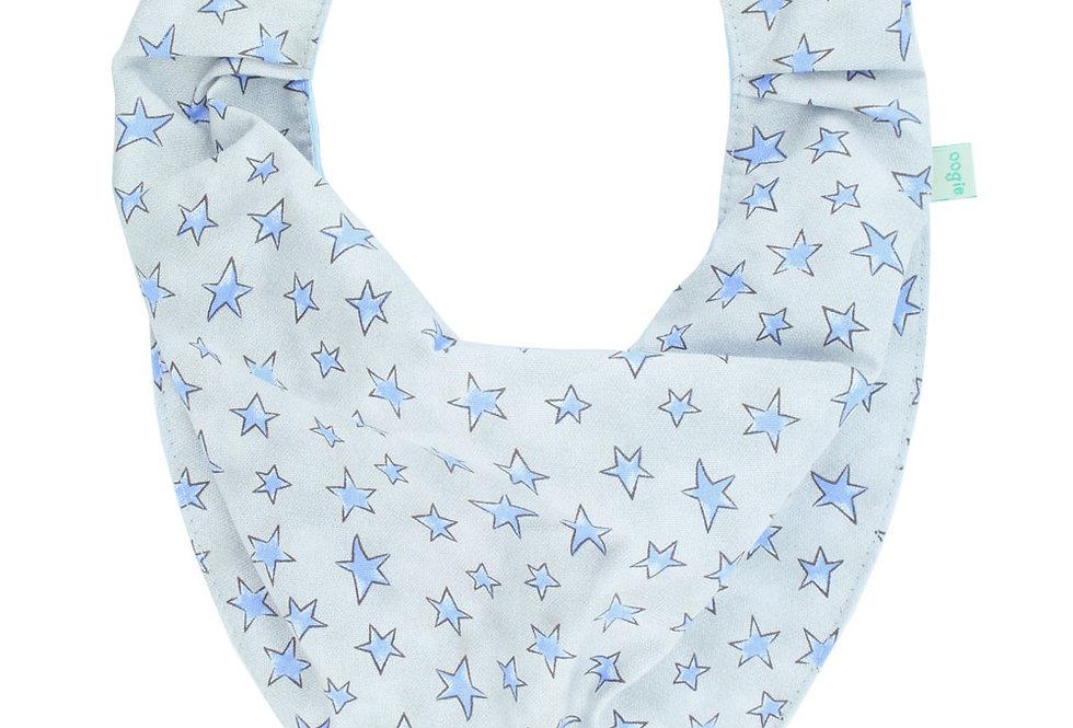 Babador Bandana Forro Impermeavel, Estrelas Azul, Oogie