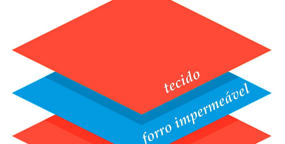 Babador Bandana Forro Impermeavel, Listrado Rosa Flor, Oogie