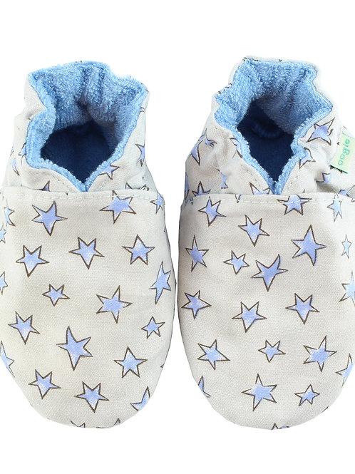 Sapatinho de Bebe Estrelas Azul, Oogie by Yandoo