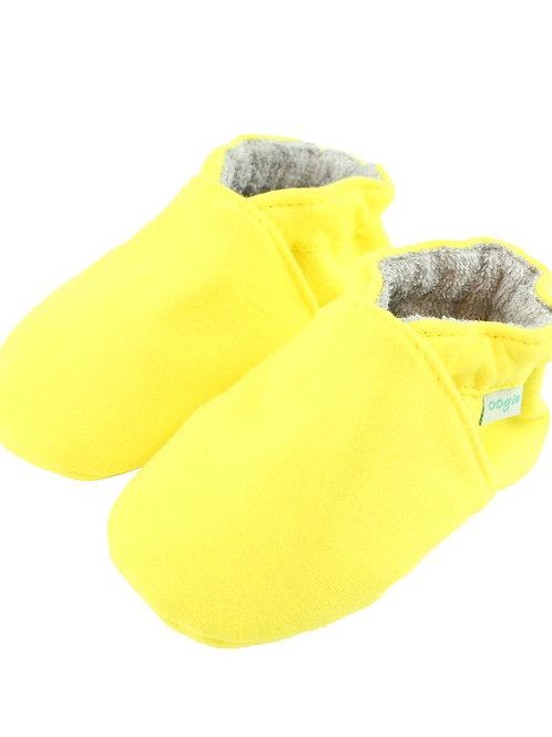 Sapatinho de Bebe Amarelo Flúor, Oogie by Yandoo