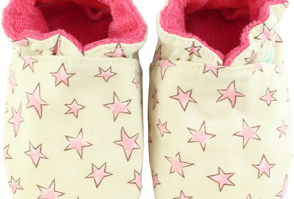 Sapatinho de Bebe Estrelas Rosa, Oogie by Yandoo