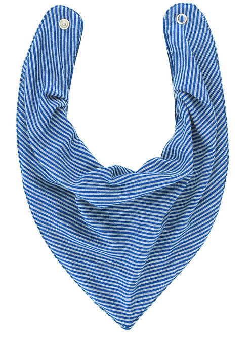 Babador Bandana Forro Impermeavel, Listras Azul, Oogie