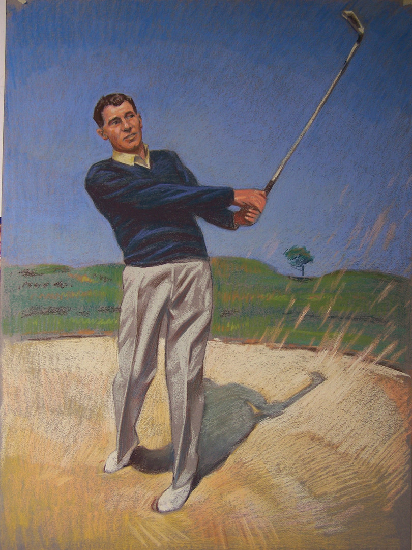 color charcoal golfer