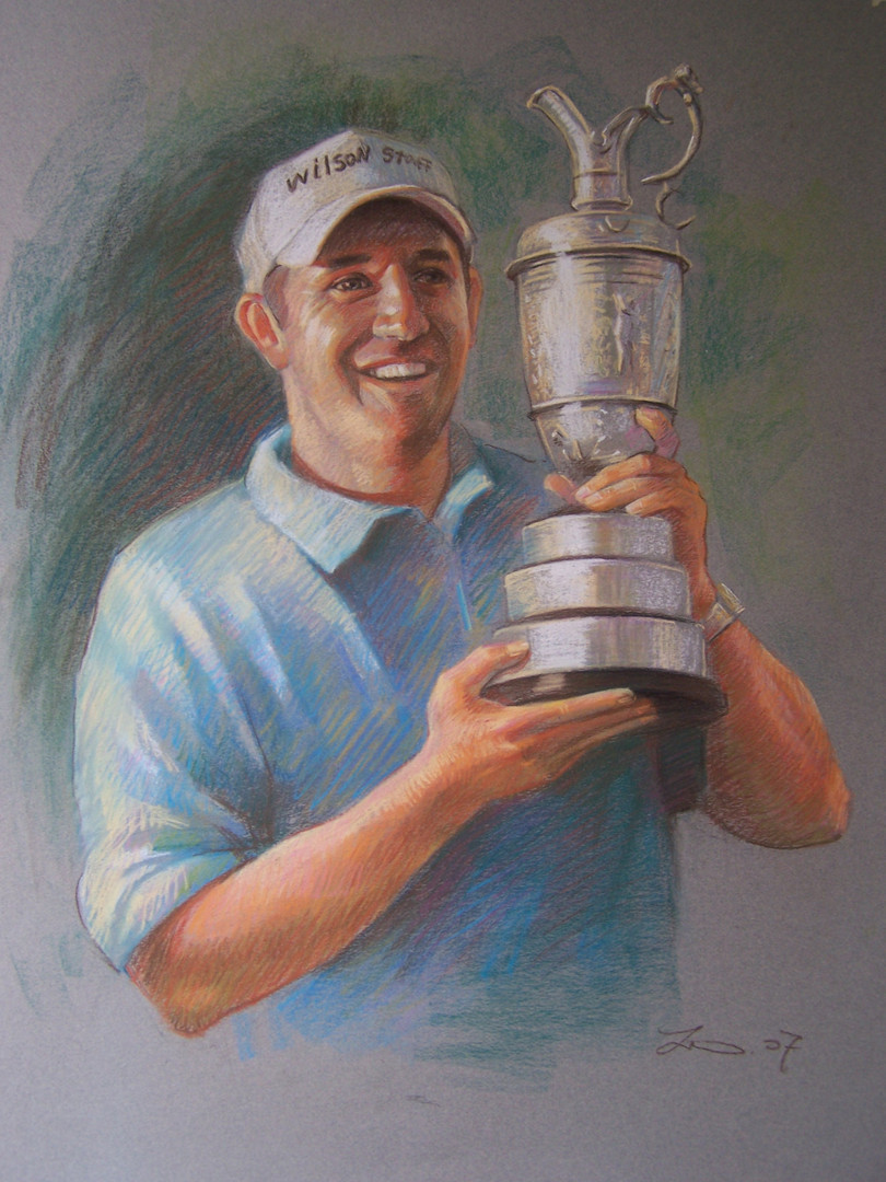 color charcoal golfer-Padraig Harrington