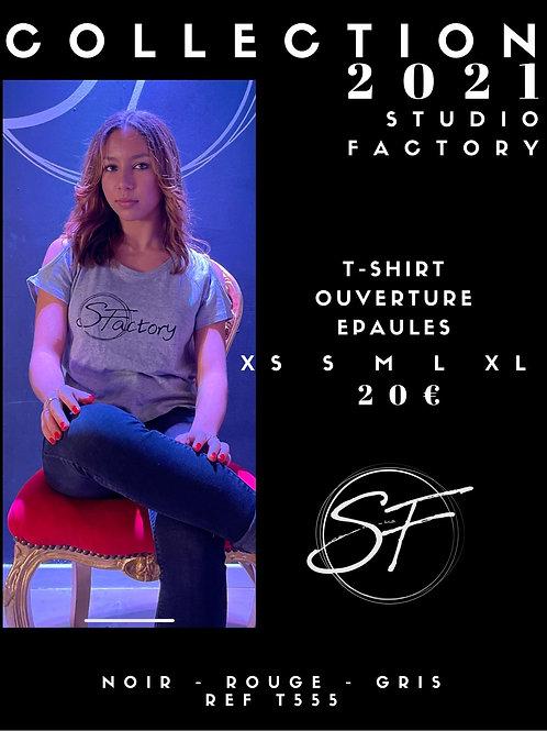 T-Shirt ouverture épaules SF