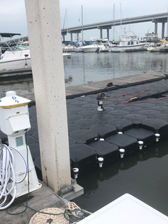 Johns Island Yacht Club boat added onto an old Jet Dock to fit new boat - 1