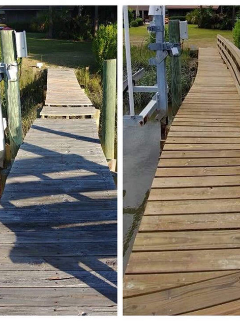 This James Island dock got a face-lift and additional structural stability.