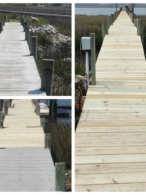 Re-decking on the Folly River