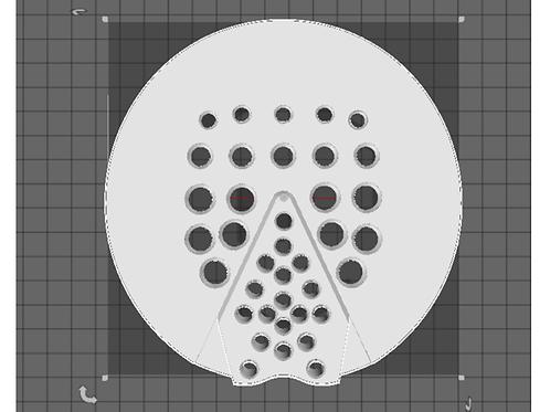 3D Printed Pad - Full Mesh Checked Heel - Pair