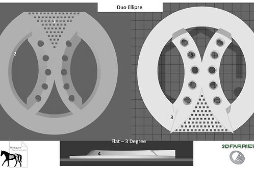 Duo Ellipse 3D printed pad -Pair