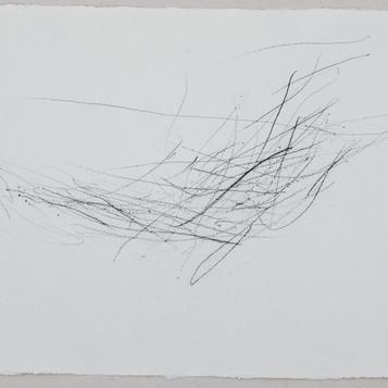 Estudo das possibilidades: do prolongamento dos dedos - (série de 15 desenhos) -  2018 - 30 x 42 cm  - lápis conté sobre papel.