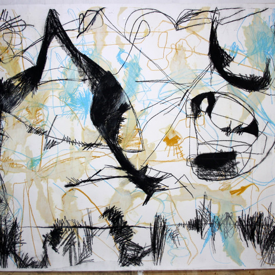 154 x 196 cm   giz pastel seco e giz pastel oleoso, tinta óleo sobre papel