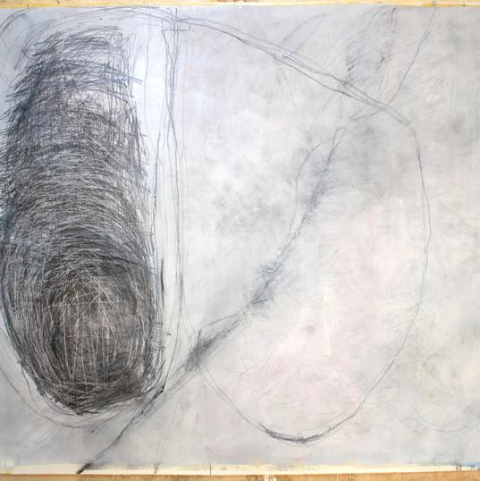 154 x 181,5 cm   óleo, giz pastel seco, giz pastel oleoso, lápis conté sobre papel.