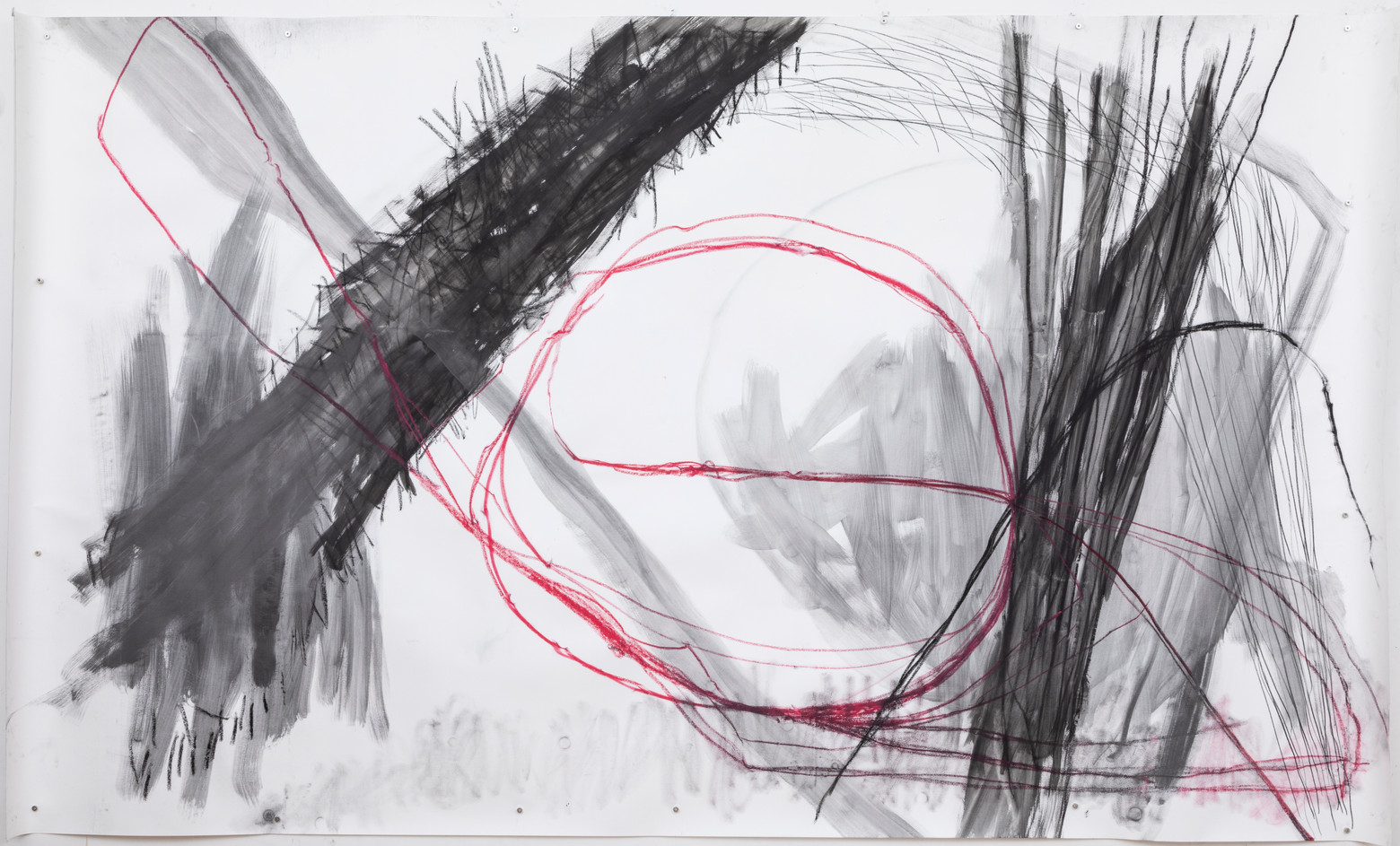 154 x 260 cm grafite e giz pastel oleoso sobre papel foto: Ruy Teixeira