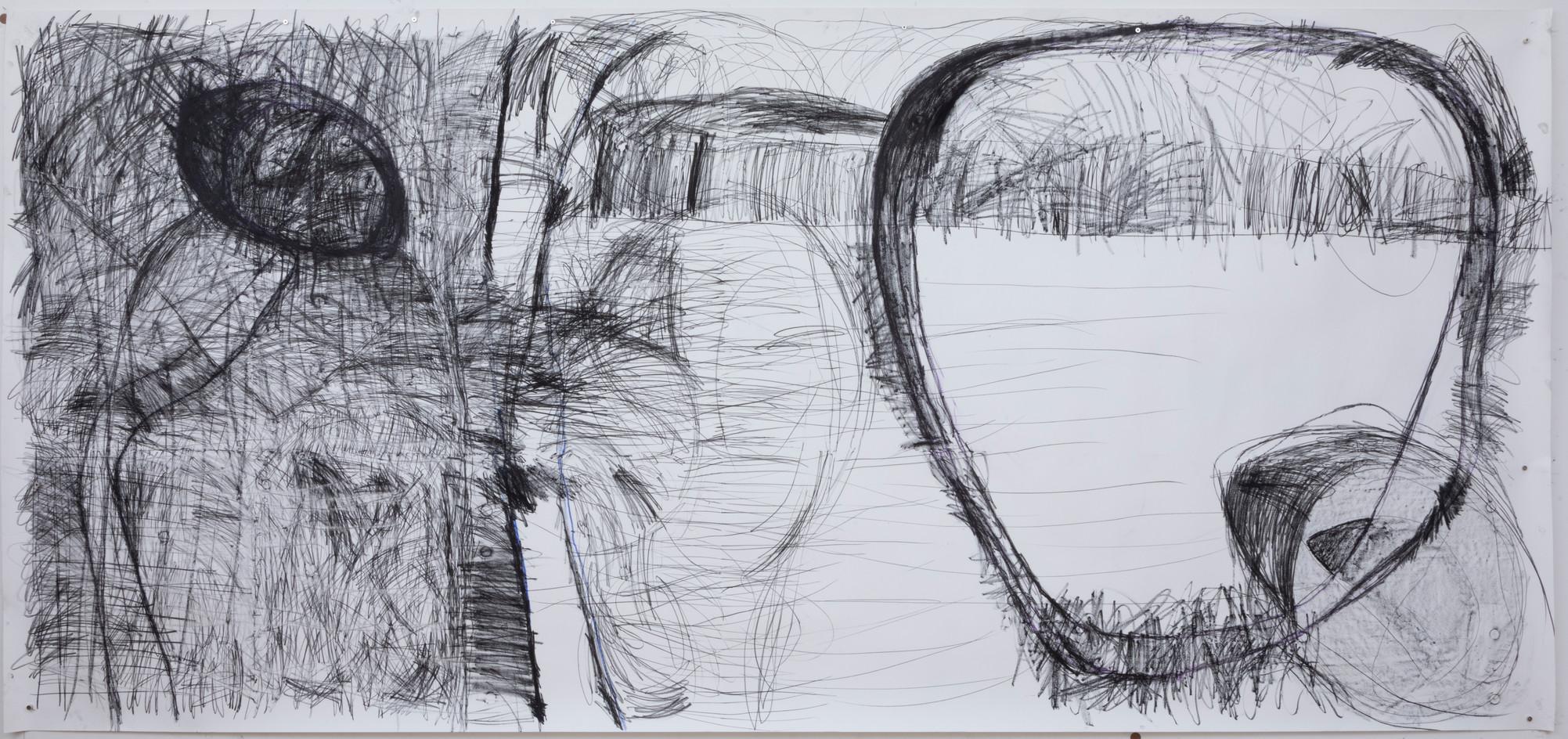 154 x 330 cm lápis conté e giz pastel seco sobre papel foto: Ruy Teixeira