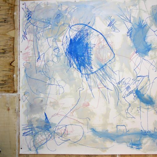 154 x 160 cm   giz pastel seco e giz pastel oleoso, tinta óleo sobre papel