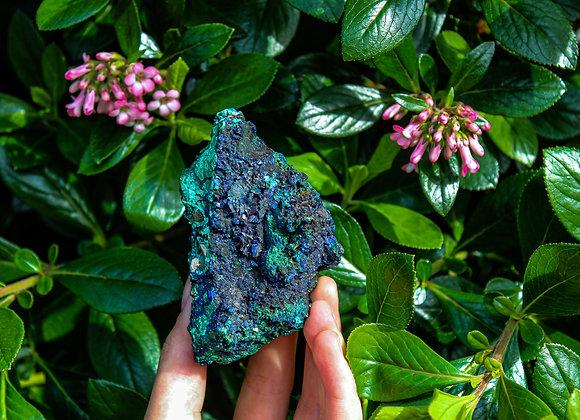 Raw Azurite and Malachite