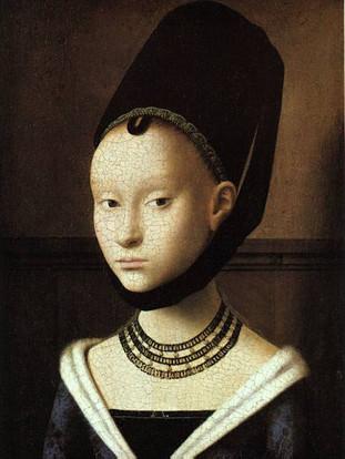 12'.Petrus Christus.Portrait d'une jeune