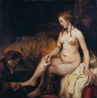 7.Rembrandt.Bethsabée au bain tenant la