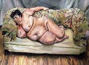 8'.Lucian Freud.Sleeping by the lion car