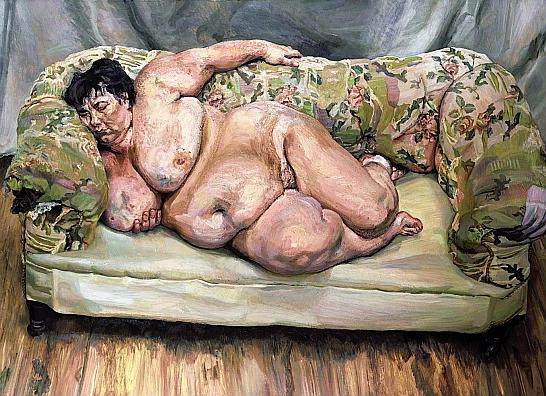 8'.Lucian Freud.Sleeping by the lion car