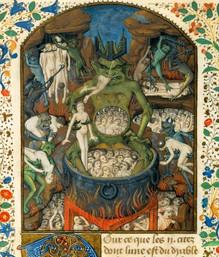 2.L'Enfer.Miniature du moyen-âge.jpg