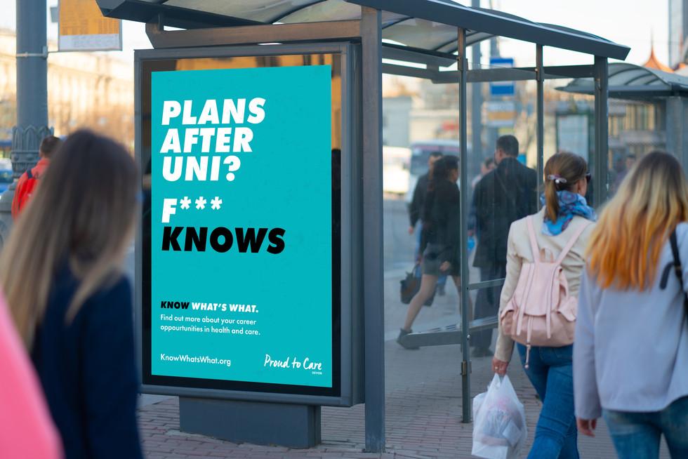 F*** Knows_6Sheet_Bus Stop Advert_Mockup