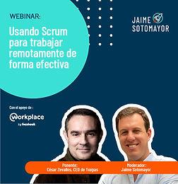 #JaimeTalks: Usando Scrum para trabajar remotamente de forma efectiva