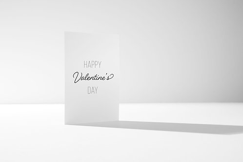 Happy Valentine's Day Luxurious Art Postcard