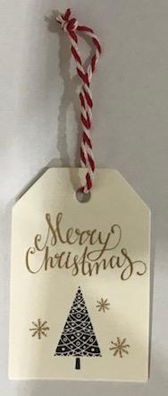 4. Christmas tree gift tag