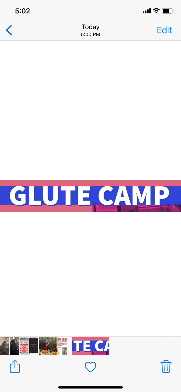 GLUTE CAMP