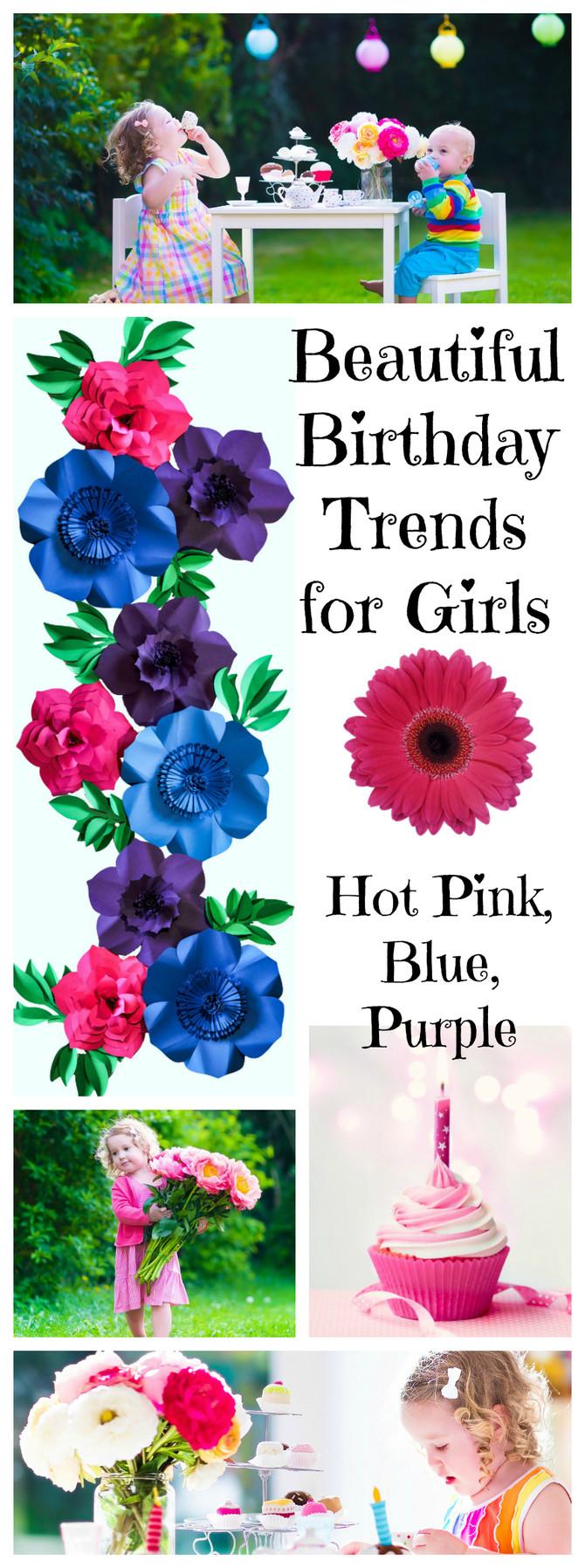 Pink, Purple, Blue: Birthday Trends