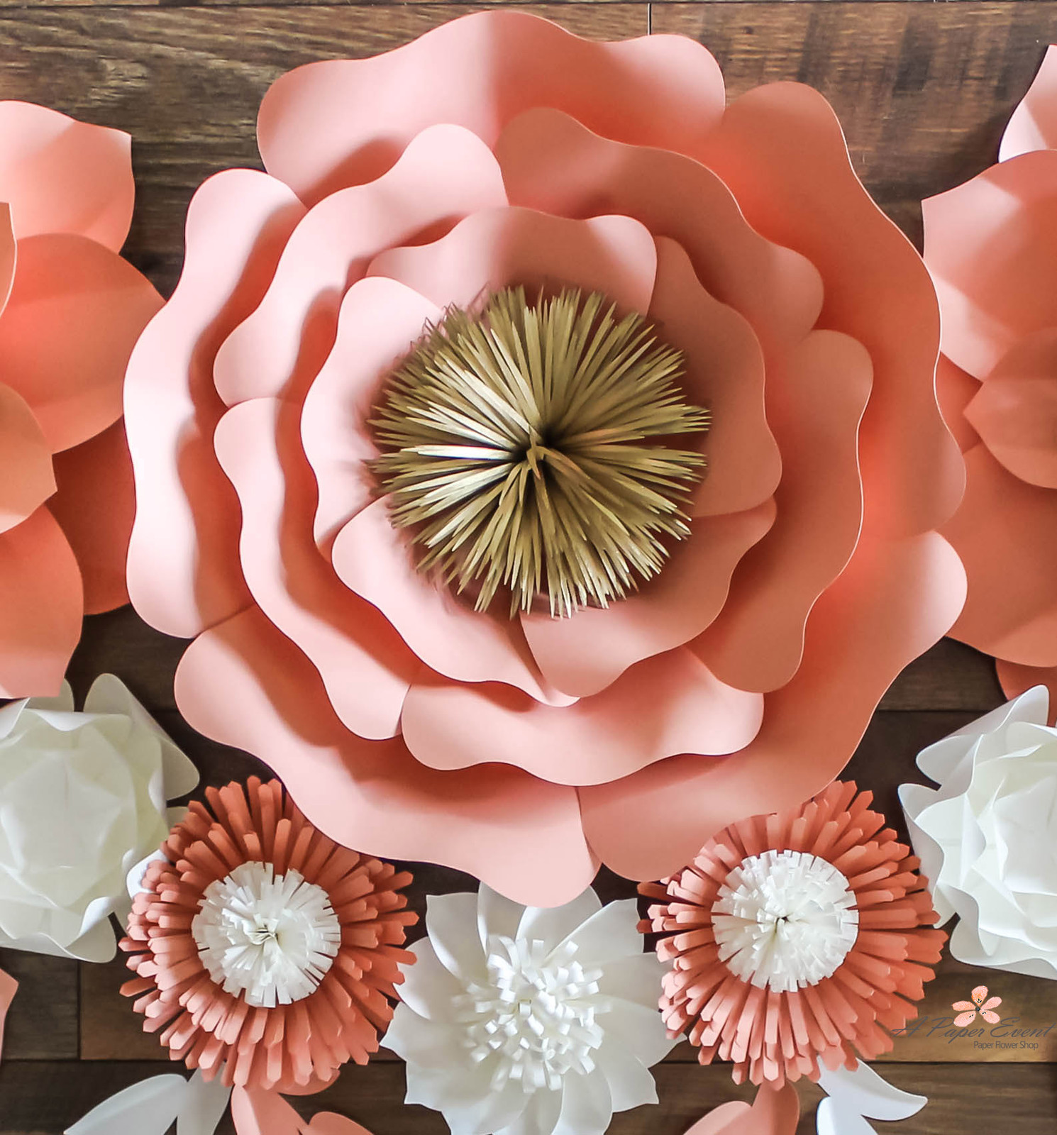 Designing paper flowers backdrops and weddingevent decor paper flower shop mightylinksfo
