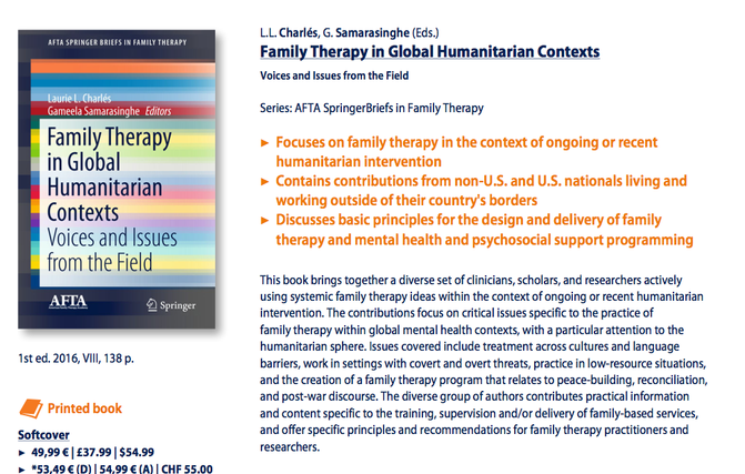 """Reflections on Presenting our Work """"Family Therapy in Global Humanitarian Contexts"""" at AAMFT 2016"""