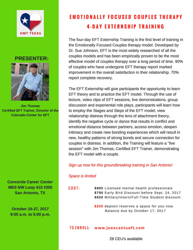 Upcoming EFT Training Opportunities