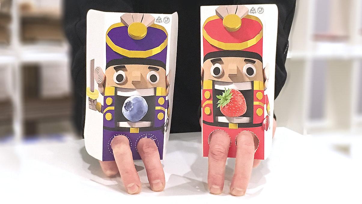 Kollegi CA. Лукошки щелкунчик Новогодние акционные упаковки игрушки