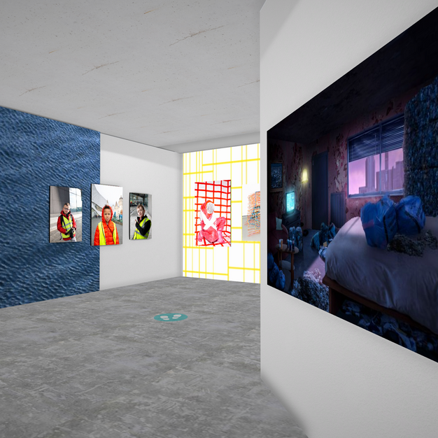 between spaces: virtual show