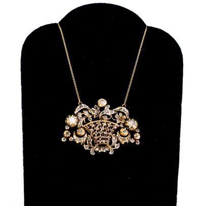 112 Rare Early Diamond Necklace   £1600