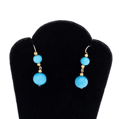 25 Gold & Glass earrings £450