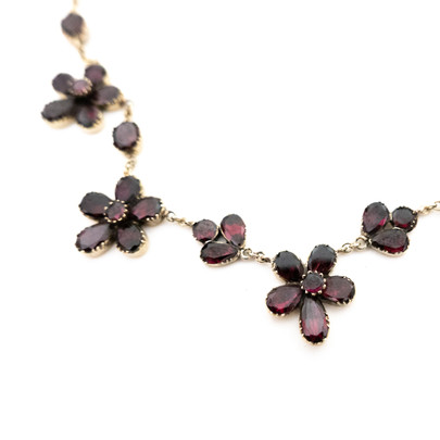 Georgian Garnet Pansy Necklace £2,200