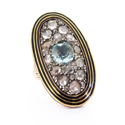 Diamond & Aqua Impressive Ring £4200