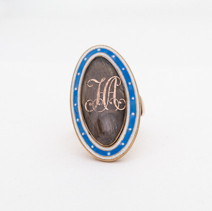182 Sentimental Blue Enamel Ring £800