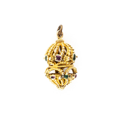 82 Gold Gem Set Pendant £240