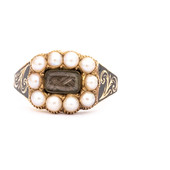 181 Pearl and Hair Ring