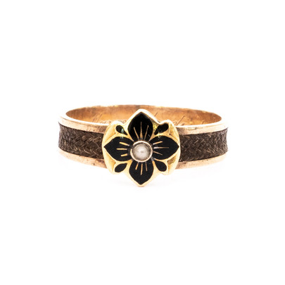 195 Hair Shanked Ring with Enamel Front £350