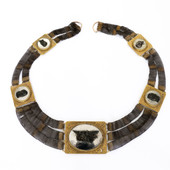 113 Rare Berlin Iron Neck with Gold Touches £3700