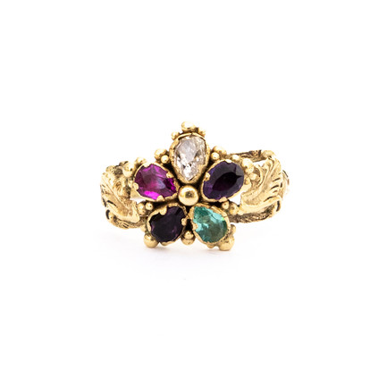 Gem Set Pansy Ring £1100